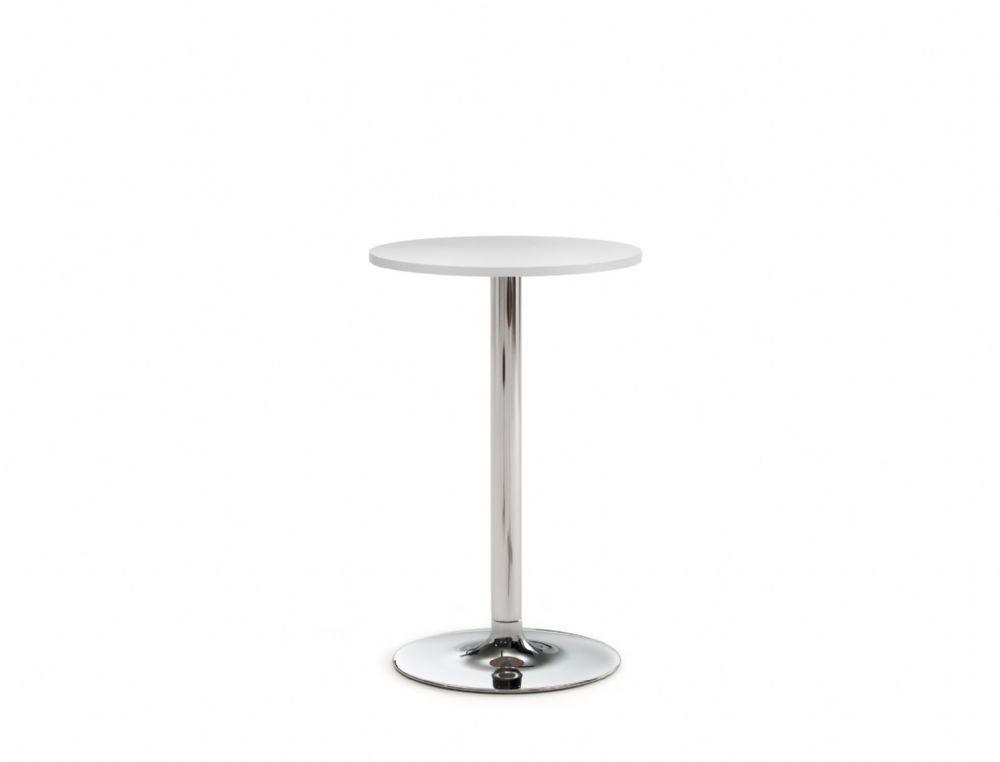 Pledge Avant 600mm Diameter High Table With Small Wooden Top And Round Base